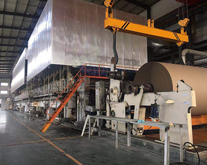 Fluting medium paper machine