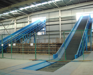 Steeply Inclined Screw Chain Belt Conveyor
